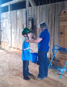 jack and margie in barn